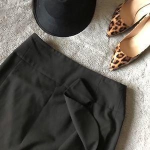 Express Design Studio Black Ruffle Midi skirt